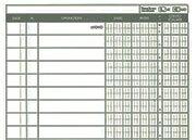 gbc Registro banca conto corrente scalare Legatura con punto a sella, carta uso mano formato a4 (21x29,785cm). 80 facciate.