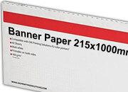 carta Cartoncino Banner Oki, 215x1000mm Bianco, formato 21,5x100cm (100x21,5cm), 160grammi x mq, 09300530c.