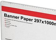 carta Cartoncino Banner Oki, 297x1000mm Bianco, formato 29,7x100cm (100x29,7cm), 140grammi x mq. Oki09300624c.