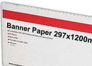 carta Cartoncino Banner Oki, 297x1200mm Bianco, formato 29,7x120cm (120x29,7cm), 170grammi x mq. OKI09300624. Carta fotografica patinata lucida ad alta risoluzione per stampe digitali a colori.