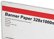 carta Cartoncino Banner Oki, 328x1000mm Bianco, formato 32,8x100cm (100x32,8cm), 160grammi x mq.