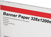 carta Cartoncino Banner Oki, 328x1200mm Bianco, formato 32,8x120cm (120x32,8cm), 160grammi x mq.