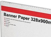carta Cartoncino Banner Oki, 328x900mm Bianco, formato 32,8x90cm (90x32,8cm), 160grammi x mq.
