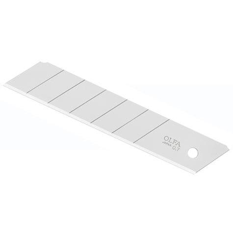 gbc Lama di ricambio Olfa HB adatta a tutti i cutter a lama larga 25 mm. Lama a 6 settori tranciabili da 12 mm ciascuno. Fornita in comodo e resistente case plastico da 20 lame. Lunghezza: 126mm, altezza: 25mm, spessore: 0,7mm. Compatibile con cutter H-1, NH-1, XH-1, XH-AL, HSW-1. Prodotto originale giapponese. MADE IN JAPAN.