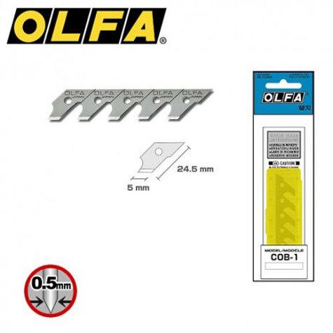 gbc Lama di ricambio Olfa per cutter a compasso Olfa CMP-1 24,5mmx5mm. Compatibile con cutter a compasso CMP-1. Fornito in confezione da 15 lame. Prodotto originale giapponese. MADE IN JAPAN.