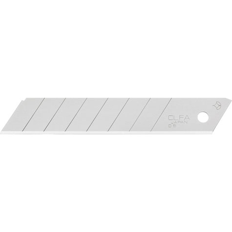 gbc Lama di ricambio Olfa LB-50 altezza: 18mm, lunghezza: 100mm, spessore: 0,5mm. Fornito in scatola contenente 10 lamette con 7 settori tranciabili. Compatibile con cutter PL-1, L-1, L-2, L-3, OL, FL, CL, ML, SL-1, EXL, XL-2, BN-L, BN-AL, NOL-1, NL-AL, CMP-2, BSR-200, BSR-300, BSR-600, L5-AL, L-5, DL-1, L-1-green, L-6, L6-AL, XSR-200, XSR-300, XSR-600 Prodotto originale giapponese, MADE IN JAPAN.