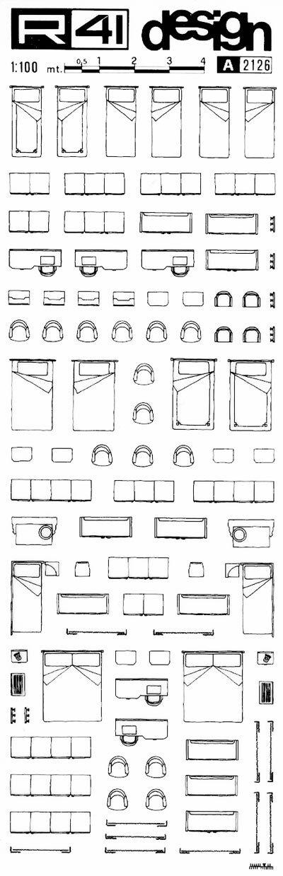 R41 trasferibili arredamento 1 100 nero trasferelli for Sito arredamento design