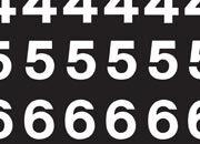 trasferibilir41 13,1mm, BIANCO. Trasferibili R41 in fogli 9x25cm. Numeri  Mercator E R41LNE1480B.
