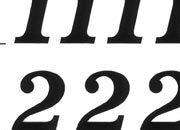 trasferibilir41 13,1mm, NERO. Trasferelli-Trasferibili R41 in fogli 9x25cm. Numeri  Volta J p. 116 R41LNJ1480n.