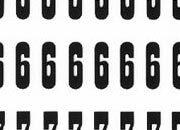 trasferibilir41 9,5mm, NERO. Trasferelli-Trasferibili R41 in fogli 9x25cm. Numeri  Proarte L p. 118 R41LNL1280n.