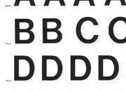 trasferibilir41 7,5mm, NERO. Trasferelli-Trasferibili R41 in fogli 9x25cm. Lettere Maiuscole Helvetica RB p. 126 R41LNRB102n.
