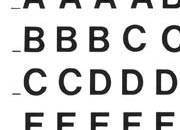 trasferibilir41 5,3mm, NERO. Trasferelli-Trasferibili R41 in fogli 9x25cm. Lettere Maiuscole Helvetica RB p. 126 R41LNRB82n.