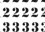 trasferibilir41 7,5mm, NERO. Trasferelli-Trasferibili R41 in fogli 9x25cm. Numeri  Stencil RF p. 129 Ispirato dalle mascherine che si usano per stampigliare a mano le scritte sugli imballi, con particolari inchiostri. Questo carattere ha una sua particolare efficacia e consegue ben definiti risultati grafici nelle composizioni. Ovviamente, per non togliere nulla alla sua efficacia sarà bene non accostargli caratteri neri o nerissimi nè di origine scritta o fantasia. P. 129.