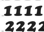 trasferibilir41 9,5mm, NERO. Trasferelli-Trasferibili R41 in fogli 9x25cm. Numeri  Cooper Black RG p. 130 R41LNRG1280n.