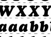 trasferibilir41 13,1mm, NERO. Trasferelli-Trasferibili R41 in fogli 25x35cm. Lettere Maiuscole e minuscole Cooper Black RG p. 130 R41LNRG14MmN.