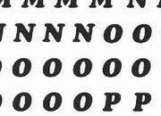 trasferibilir41 4,3mm, NERO. Trasferelli-Trasferibili R41 in fogli 9x25cm. Lettere Maiuscole Cooper Black RG p. 130 R41LNRG62n.