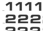 trasferibilir41 7,5mm, NERO. Trasferelli-Trasferibili R41 in fogli 9x25cm. Numeri  Eurostile RI p. 131 R41LNRI1080n.