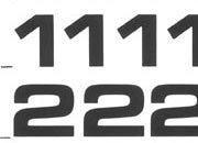 trasferibilir41 9,5mm, NERO. Trasferelli-Trasferibili R41 in fogli 9x25cm. Numeri  Eurostile RI p. 131 R41LNRI1280n.