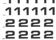 trasferibilir41 5,3mm, NERO. Trasferelli-Trasferibili R41 in fogli 9x25cm. Numeri  Eurostile RI p. 131 R41LNRI880n.