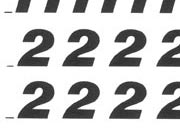 trasferibilir41 7,5mm, NERO. Trasferelli-Trasferibili R41 in fogli 9x25cm. Numeri  Etrusco RL p. 132 R41LNRL1080n.