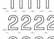 trasferibilir41 10,2mm, NERO. Trasferelli-Trasferibili R41 in fogli 9x25cm. Numeri  Forma RS p. 137 R41LNRS1380n.