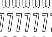 trasferibilir41 13,1mm, NERO. Trasferelli-Trasferibili R41 in fogli 9x25cm. Numeri  Unipol RV p. 140 R41LNRV1480n.