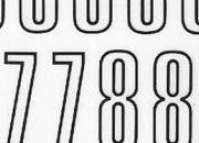 trasferibilir41 20mm, NERO. Trasferelli-Trasferibili R41 in fogli 9x25cm. Numeri  Unipol RV p. 140 R41LNRV2080n.
