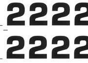 trasferibilir41 9,5mm, NERO. Trasferelli-Trasferibili R41 in fogli 9x25cm. Numeri  Eurostile RZ p. 142 R41LNRZ1280n.