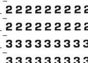 trasferibilir41 3,2mm, NERO. Trasferelli-Trasferibili R41 in fogli 9x25cm. Numeri  Eurostile RZ p. 142 R41LNRZ480n.