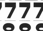 trasferibilir41 13,1mm, NERO. Trasferelli-Trasferibili R41 in fogli 9x25cm. Numeri  Stadio SD p. 144 R41LNSD1480n.
