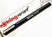 gbc Penna a china, Rotring RapidoGraph, 0,10 mm penna a china Rotring per disegno tecnico. Per carta da disegno. Spessore punta 0,10mm. Prodotto originale tedesco, MADE IN GERMANY.