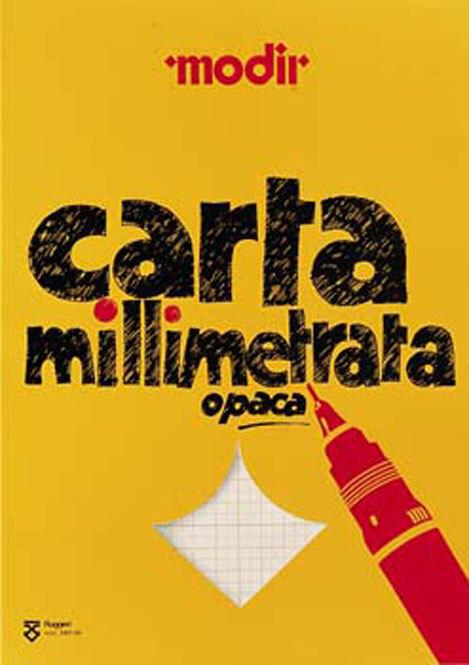 gbc Blocco di carta Millimetrata formato A2 (42x59,4cm) in carta OPACA finissima, colore stampa: Arancione, legatura: Collato in testa, foliazione: 50 fogli, carta da 85gr.