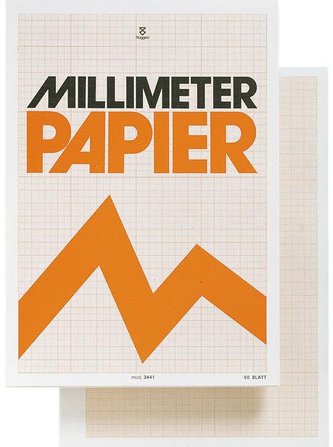 gbc Blocco Millimeter papier in formato A4 (21x29,7cm) in carta OPACA finissima, colore stampa: Arancione, legatura: Collato in testa, foliazione: 50 fogli, carta da 85gr.