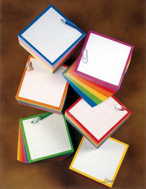 gbc Arcobloc - cubo  formato cm 11X11X6,5, legatura: Collato in testa, foliazione: 600 fogli, carta da 80gr.