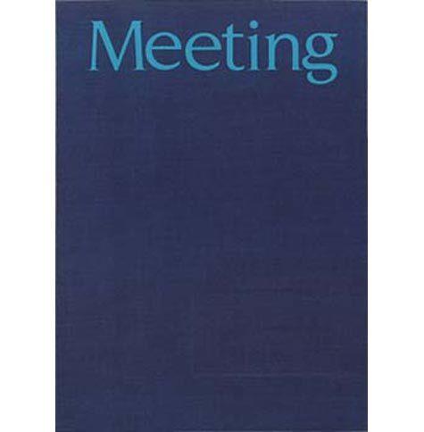 gbc Cartella per Meeting e congressi formato cm 25x35, Contiene un blocco collato in testa di 20 fogli da 80gr.