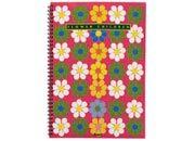 qpaperruggeri Sixties, Flower children - Quadrettato / Graph 5 mm formato A6, legatura: W.O. lato lungo, foliazione: 50 fogli, carta da 80gr, quadretti 5mm.