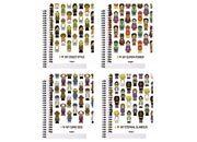 qpaperruggeri Notebook I Love quadrettato a 5 mm formato A4, legatura: W.O. lato lungo, foliazione: 70 fogli, carta da 80gr, quadretti 5mm.