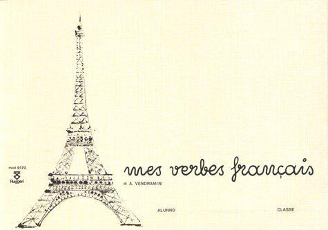 gbc Mes verbes francais formato cm 24x17, legatura: Punto metallico, foliazione: 64 fogli, carta da 70gr.