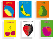 qpaperruggeri Maxi quaderno 1 Rigo Pop Fruit formato A4, legatura: Punto metallico, foliazione: 21 fogli, carta da 80gr, righe da 8mm.