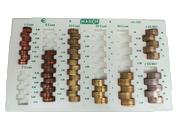gbc Contenitore porta monete euro Markin per tutte le monete in euro e centesimi. Permette di contare e ordinare rapidamente le monete, garantendo un notevole risparmio di tempo. Con 8 colonne per tutti i tagli con indicazione dell'importo contenuto. Contiene 405 monete (140,1€).