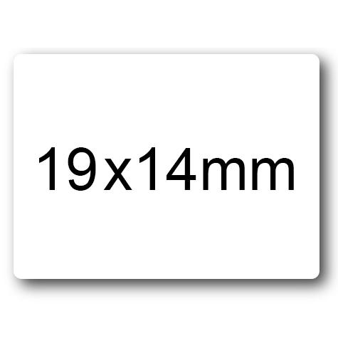 wereinaristea Etichette autoadesive mm 19x14 (14x19) BIANCO, adesivo permanente, su foglietti da cm 15,2x12,5. 49 etichette per foglietto.