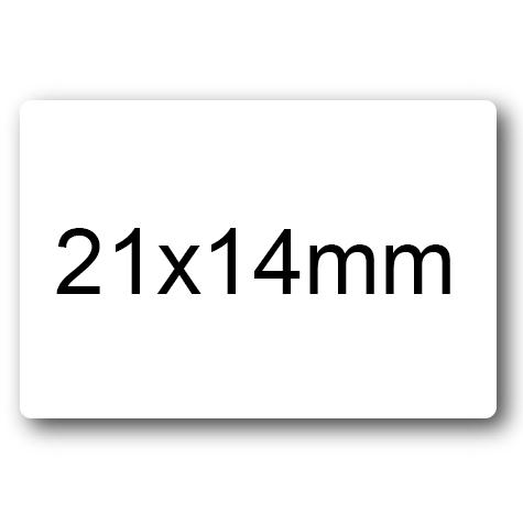 wereinaristea Etichette autoadesive mm 21x14 (14x21) BIANCO, adesivo permanente, su foglietti da cm 15,2x12,5. 45 etichette per foglietto.