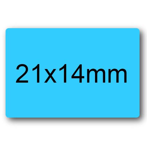 wereinaristea Etichette autoadesive mm 21x14 (14x21) AZZURRO, adesivo permanente, su foglietti da cm 15,2x12,5. 45 etichette per foglietto.