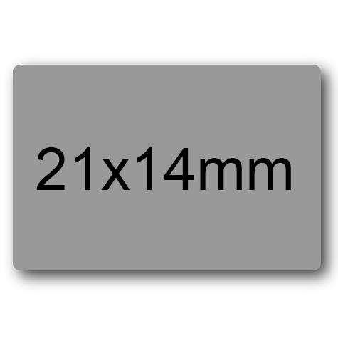 wereinaristea Etichette autoadesive mm 21x14 (14x21) GRIGIO, adesivo permanente, su foglietti da cm 15,2x12,5. 45 etichette per foglietto.