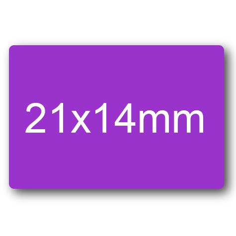 wereinaristea Etichette autoadesive mm 21x14 (14x21) VIOLA, adesivo permanente, su foglietti da cm 15,2x12,5. 45 etichette per foglietto.