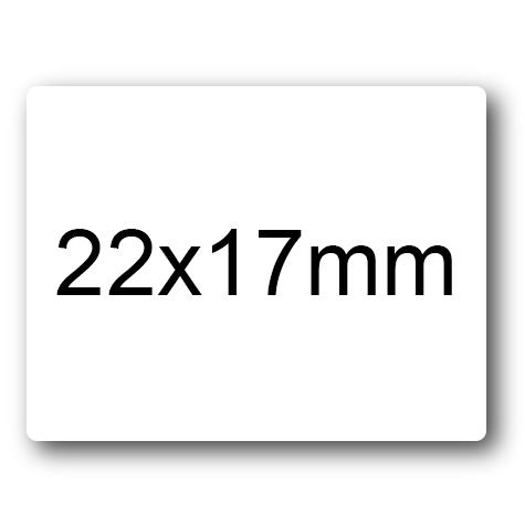 wereinaristea Etichette autoadesive mm 22x17 (17x22) BIANCO, adesivo permanente, su foglietti da cm 15,2x12,5. 36 etichette per foglietto.
