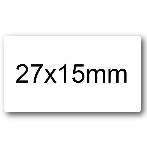 wereinaristea Etichette autoadesive mm 27x15 (15x27) BIANCO, adesivo permanente, su foglietti da cm 15,2x12,5. 35 etichette per foglietto.