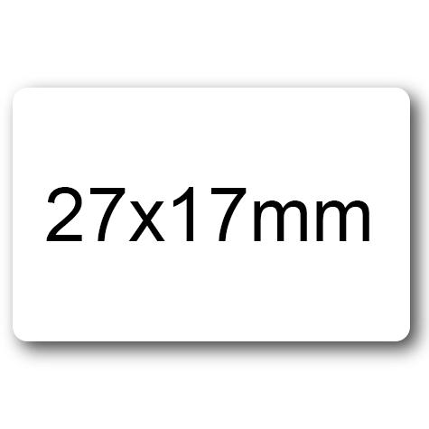 wereinaristea Etichette autoadesive mm 27x17 (17x27) BIANCO, adesivo permanente, su foglietti da cm 15,2x12,5. 30 etichette per foglietto.