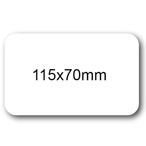 wereinaristea Etichette autoadesive mm 115x70 (70x115) BIANCO, adesivo permanente, su foglietti da cm 15,2x12,5. 2 etichette per foglietto.