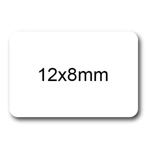 wereinaristea Etichette autoadesive Tik-Fix. a perfetto registro. mm 12x8 (8x12) BIANCO, in foglietti da mm 116x170, 60 etichette per foglio, (10 fogli).